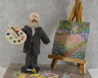 Claude Monet French Artist Miniature Diorama Art Collectible Impressionist Painter