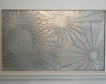Stainless steel metal wall art sculpture