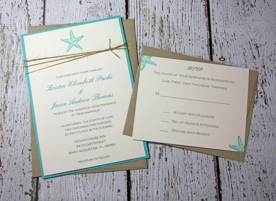 Marvelous Beach Wedding Invitations