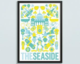 The Seaside (aka Brighton) poster - Giclee 315g fine art wall print