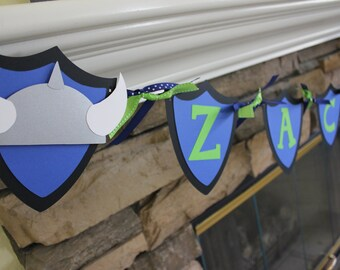 Viking Party - Dragon Party - Viking Birthday Banner - Viking Name Banner - How To Train Your Dragon Party