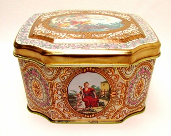 Baroque Romance: Vintage Meister Tin Featuring Beautiful Period Designs