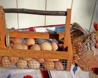 Farmhouse,Garden Basket,Harvest Basket,Handmade Basket,Storage Basket, Egg Basket
