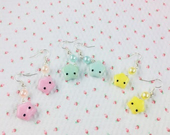 Pastel Star Earrings