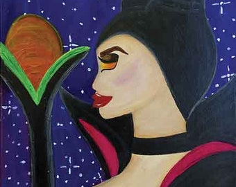 ORIGINAL Maleficent 12x16 Canvas Painting