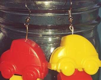 Monopoly Junior Game piece Earrings Cars House