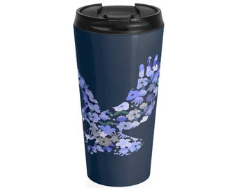 Ravenclaw Floral Steel Travel Mug