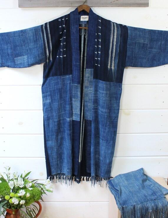 Indigo Shibori Kimono