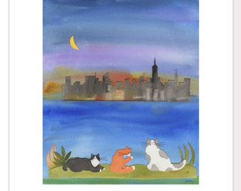 Cats in New York Note Cards