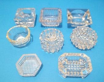 Vintage Glass Salt Dips Crystal  Lot of 8