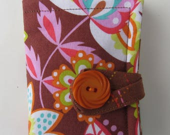 Tea Wallet , Tea Bag Holder, Cute Accessory, Purse Accessory, Flowers and Leaves