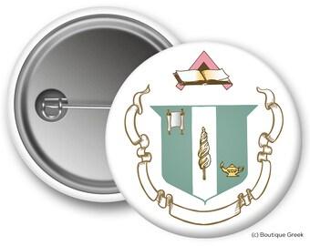 DZ Delta Zeta Crest Sorority Greek Button