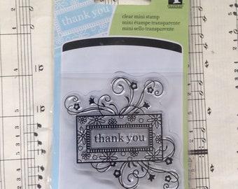Thank You Mini Stamp - Inkadinkado, Cling Stamp, Card Making, Tags