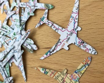 Airplane Confetti, 50 Pieces, 2-inch, Travel Theme Decoration