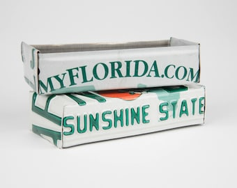 Florida license plate box - father's day gift - gift for mom's dad's and grad's - teacher gift - graduation gift - graduation gift box