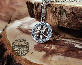 Viking helm amulet pendant the helm of awe aegishjalmur helm of awe aegishjalmur viking pendant sterling silver norse pendant viking jewelry aloadofball Images