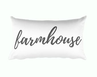 Lumbar Pillow - Farmhouse | Personalized Pillow |  Throw Pillow | Monogrammed Gift | Rustic Home Decor | Home Decor | Farmhouse Decor
