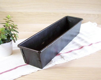 Black cake pan cake tin cake mold cake mould bread mold loaf pan| French kitchen vintage