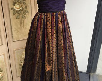 Incredible Vintage Jean Allen Prom Dress. Guide size 10. #A17