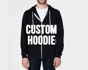 Custom Black Zip Up