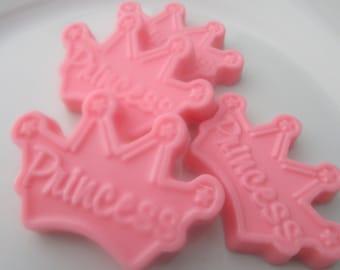 40 princess crown soap favors - princess birthday favors - princess baby shower favors - pink princess crown party favors - girl crown favor