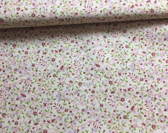Brown and purple Liberty floral fabric