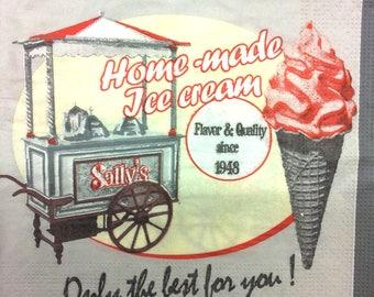 Vintage ice paper kitchen towel