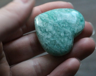 Amazonite Heart Shaped Stone #87132
