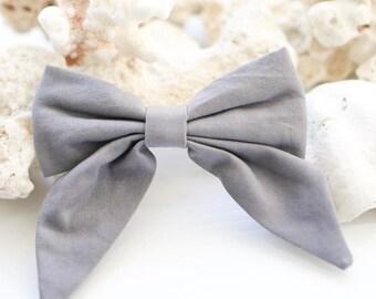 Large sailor bow clip / fabric bow / hair bow / hair clip