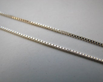 Bulk 20 feet Sterling Silver Box Chain on spool  Unfinished