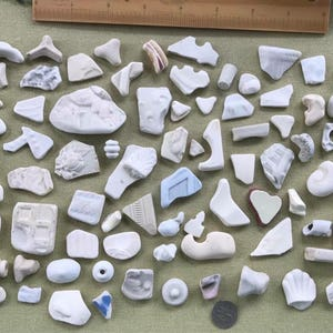 Lot Of Scottish Sea Pottery Pieces From Scotland - Interesting Shapes, Patterns, & Textures