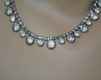 Rhinestone Necklace, Weiss Jewelry, Vintage, Weiss, , Mid Century, Something Old,Necklace,Wedding Necklace,Brides Necklace, Bridal Jewelry,