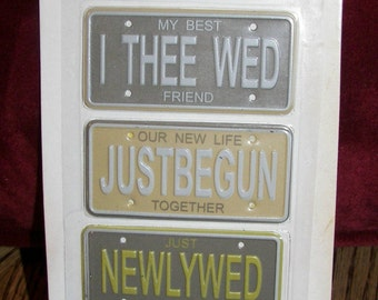 ON SALE  Wedding License Plates