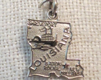 Louisiana ~ Pelican State ~ Sterling Silver Charm by Wells