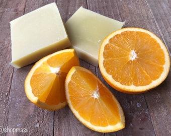 Orange natural organic vegan soap