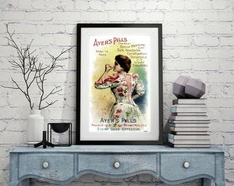 VINTAGE ADVERTISING Poster Art Old style Wall Art Wall Decor vintage wall hangings Vintage Style Yellow Poster Adorable Vintage Advertising