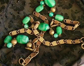 Vintage Peking Glass or Art Glass Necklace