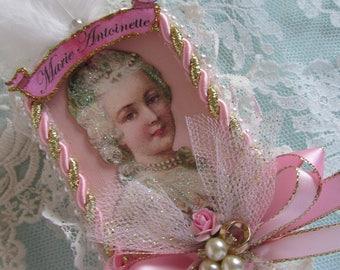 Marie Antoinette Shadow Box Shrine Altered Art Tin Mixed Media Original