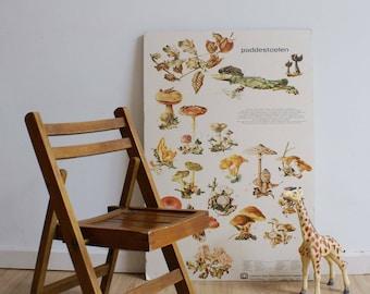 Cute vintage folding chair. Wooden Retro highchair/kids Chair