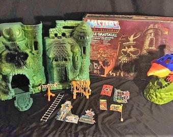 1981 Mattel He-Man MOTU Castle Grayskull and Point Dread w/Talon Fighter MIB