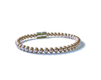 Bronze Pearl Magnetic Hematite Therapy Bracelet