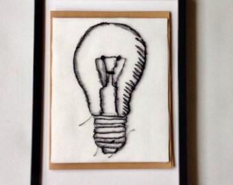 Art Cards---Stitched Light Bulb