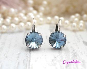 Blue Earrings, Crystal Earrings, Swarovski Crystal Earrings, Dangle Earrings, Drop Earrings, Bridal Earrings, Bridesmaid Earrings, Swarovski