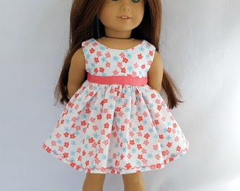 """Flowered Easter dress fits 18"""" dolls such as American Girl"""