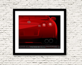 Drive Signature Series Poster 6 Nissan GT-R