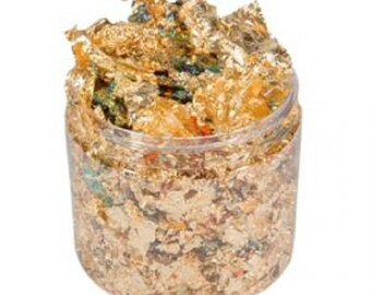 Cosmic Shimmer Gilding Flakes, Inca Gold, 200ml jar