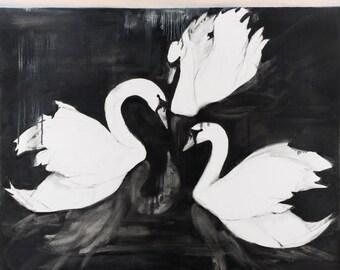 Swan wildlife print