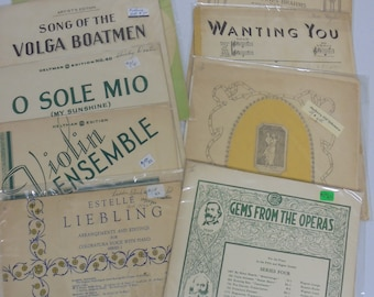 Early 20th Century sheet music set 2