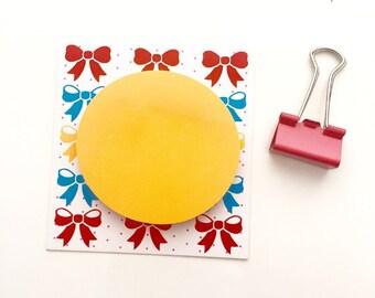 Notepad Neon Orange Circle