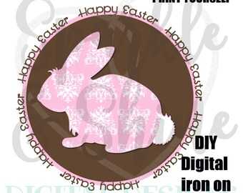 DIY Easter Bunny iron on - Digital Iron On - Digital iron on - iron on transfer - Girl iron on - instant download - 1st Easter Iron On